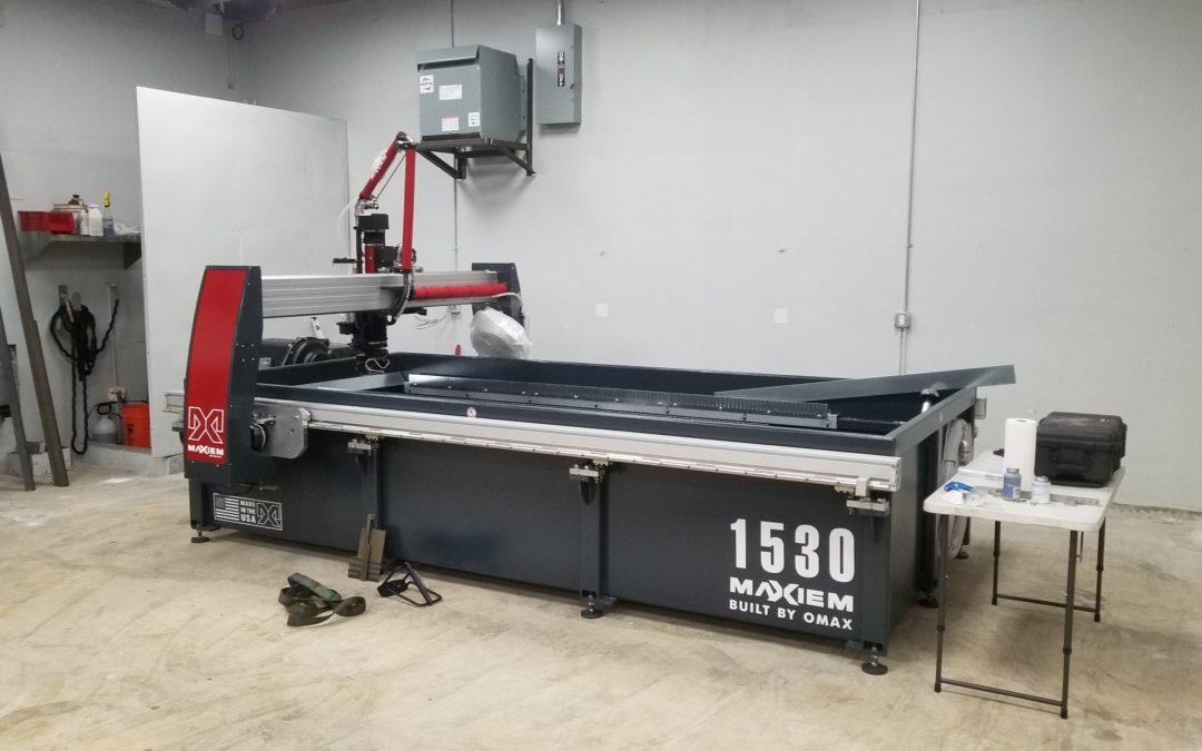 Maxiem 1530 Waterjet OMAX | A&J Sheet Metal, Over 20 Years